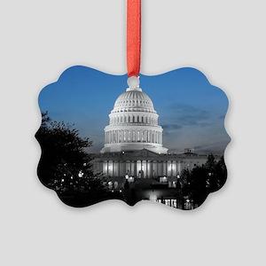 Capitol Hill Blue Picture Ornament