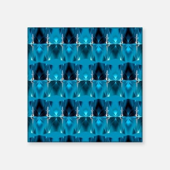 "Blue Star Trek Shower Curta Square Sticker 3"" x 3"""