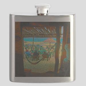 Cozumel Island End Tropical Flask