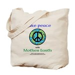 MakePeacewEarth- Tote Bag