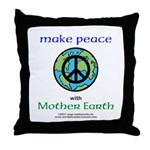 MakePeacewEarth- Throw Pillow
