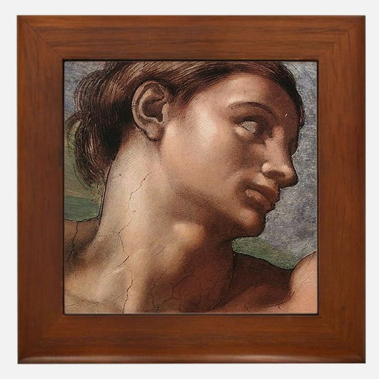 Michelangelo Creation of Adam Framed Tile