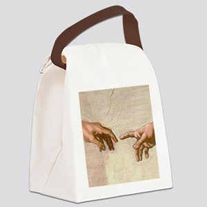 Michelangelo Creation of Adam Canvas Lunch Bag