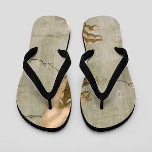 4c6547445c2e Michelangelo Creation of Adam Flip Flops