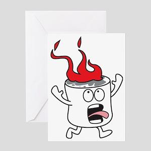 Flaming Marshmallow Greeting Card