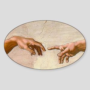 Michelangelo Creation of Adam Sticker (Oval)