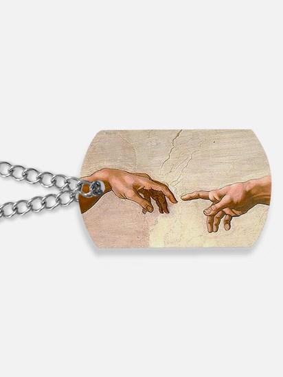 Michelangelo Creation of Adam Dog Tags