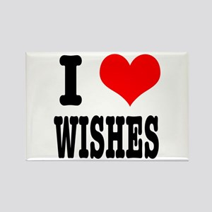 I Heart (Love) Wishes Rectangle Magnet