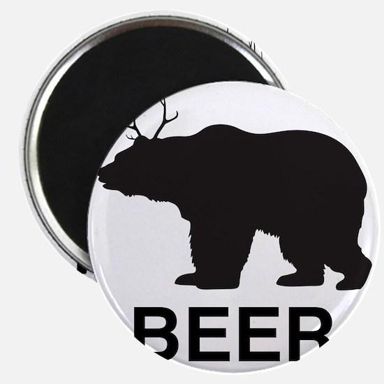 Beer. Bear with Deer Antlers Magnet