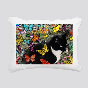 Freckles the Tuxedo Kitt Rectangular Canvas Pillow