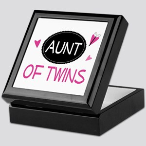 Aunt Of Twins Keepsake Box