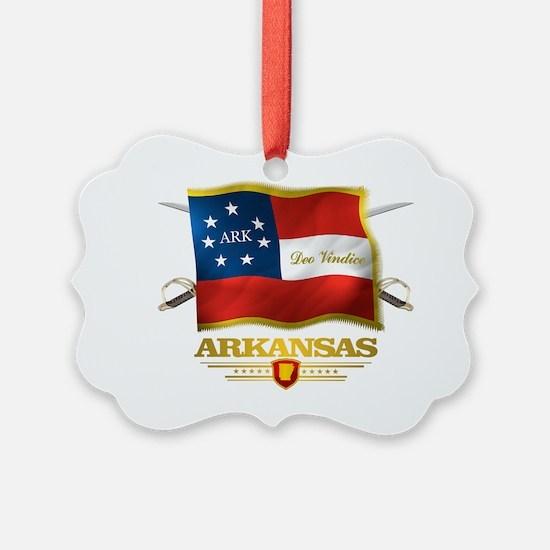 Arkansas -Deo Vindice Ornament
