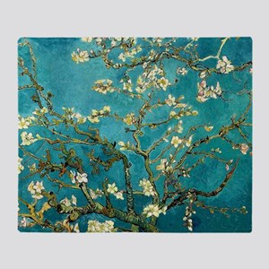 Van Gogh Almond Blossoms Tree Throw Blanket
