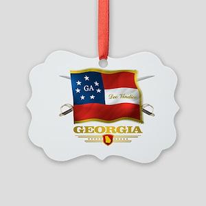 Georgia -Deo Vindice Picture Ornament