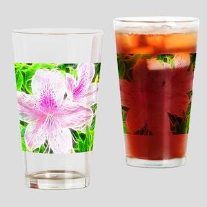 Electrifying Pink Daylilies Drinking Glass