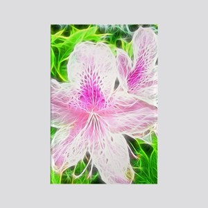 Electrifying Pink Daylilies Rectangle Magnet