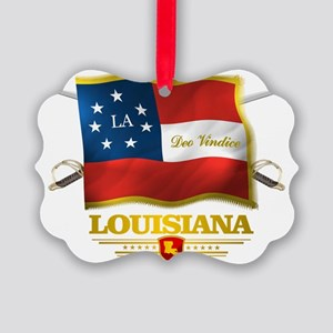 Louisiana -Deo Vindice Picture Ornament