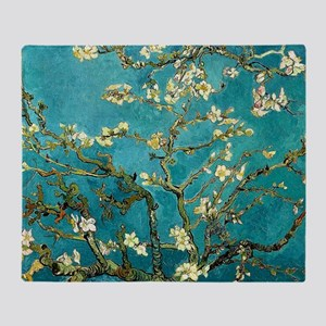 Van Gogh Almond Blossoms Tree Throw Blanket