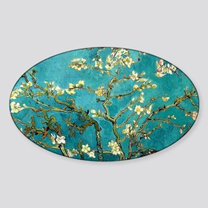 Van Gogh Almond Blossoms Tree Sticker (Oval)