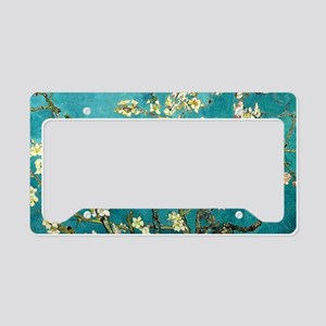 Van Gogh Almond Blossoms Tree License Plate Holder