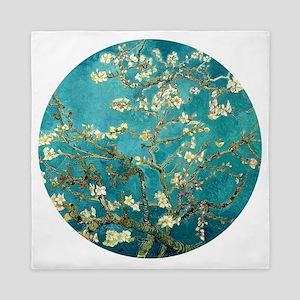 Van Gogh Almond Blossoms Tree Queen Duvet