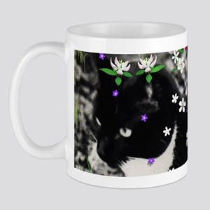 Freckles the Tux Kitty in Flowers I Mug