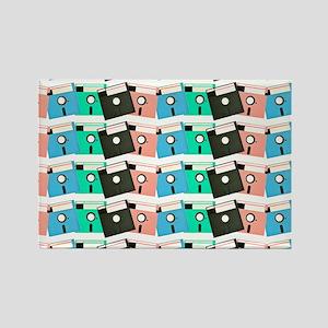 Vintage Floppy Discs Rectangle Magnet