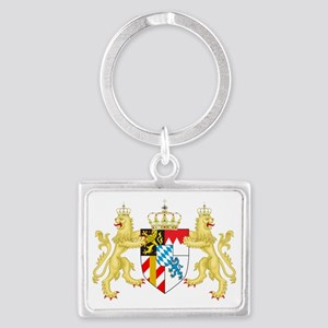 Coat of arms of the Kingdom of  Landscape Keychain