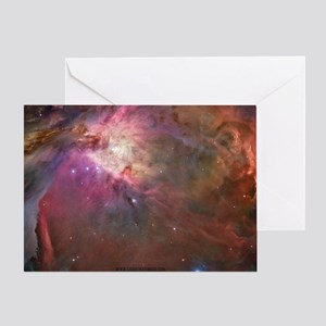 Orion Outerspace Nebula Greeting Card