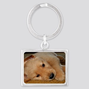 Cooper Wants a Nap Landscape Keychain