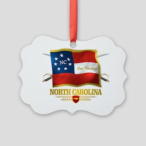 North Carolina -Deo Vindice Picture Ornament