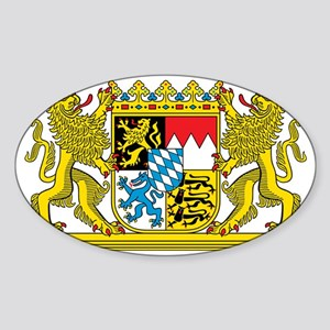The coat of arms of the German stat Sticker (Oval)