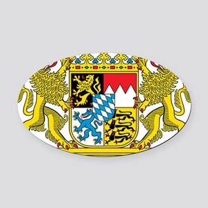 The coat of arms of the German sta Oval Car Magnet