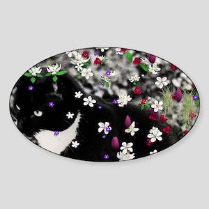Freckles Flow I Cocktail Platter-18 Sticker (Oval)