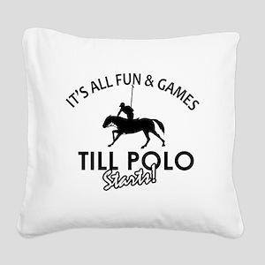 Cool Polo Designs Square Canvas Pillow