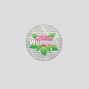 Wyoming Hibiscus Mini Button