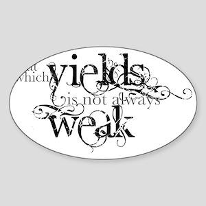 Yielding Sticker (Oval)