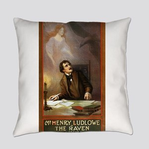 Raven - US Lithograph - 1908 Everyday Pillow