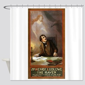 Raven - US Lithograph - 1908 Shower Curtain