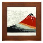 Hokusai Fujisan Framed Tile