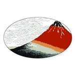 Hokusai Fujisan Oval Sticker