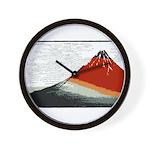 Hokusai Fujisan Wall Clock