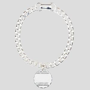 I Like My Norwegian Elke Charm Bracelet, One Charm