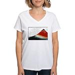 Hokusai Fujisan Women's V-Neck T-Shirt
