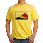 Hokusai Fujisan Yellow T-Shirt
