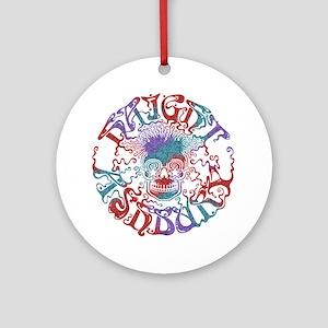 haight-skull-DKT Round Ornament