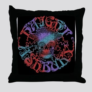haight-skull-LG Throw Pillow