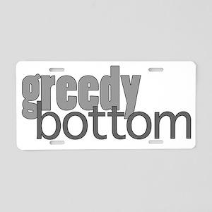 Greedy Bottom Aluminum License Plate