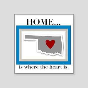 "OK Home (small2) Square Sticker 3"" x 3"""