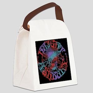 haight-skull-OV Canvas Lunch Bag